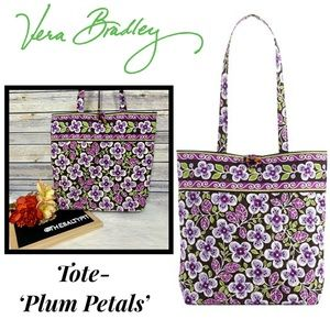 Just In! Vera Bradley Tote- Plum Petals